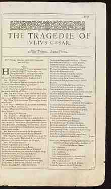first, folio, tragedy, of